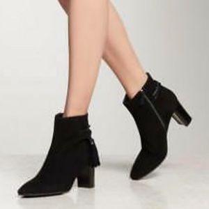 L.K. BENNETT Suede Block Heel Ankle Boots size 6